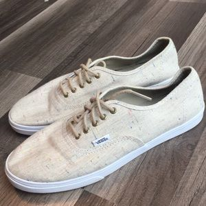 Vans women's tan colorful sneakers. Size 9